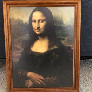 Mona Lisa portrait wall hanging